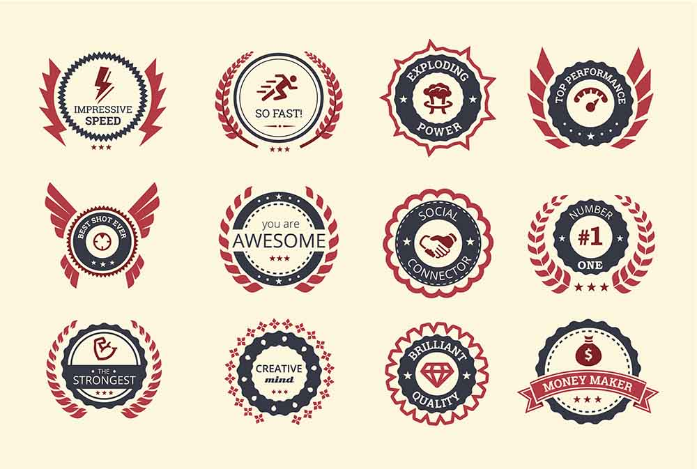 Achievement badges for gamification